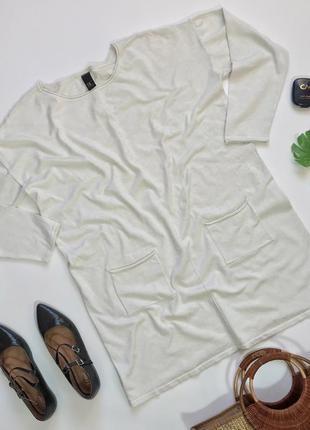 Простая базовая трикотажная кофта свитер туника большого размера bc 4xl/48/56&