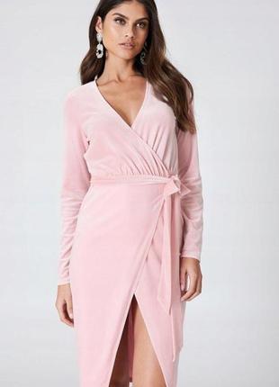 Asos рожева велюрова оксамитова сукня 4e34c20fbb124