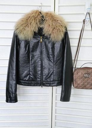 Утепленная куртка terranova экокожа