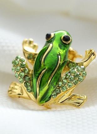 Брошь лягушка жаба, новая! арт.2963