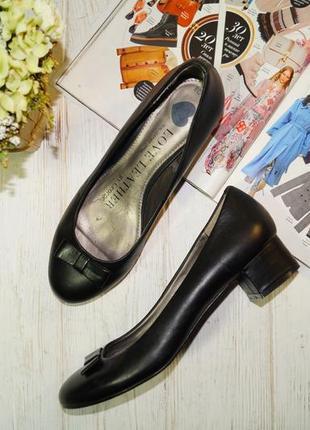 George! кожа! красивые туфли на удобном каблучке