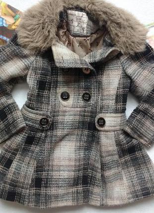 """Красивейшее пальто в ретро - стиле """"tu"""" на 3-4 года"""