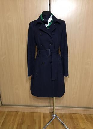 Шерстяное пальто-тренч