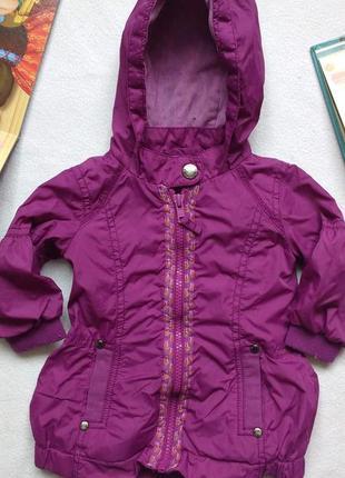 """Лёгкая фиолетовая куртка- ветровка """"baker baby"""" от """"ted baker"""" , 3- 6 месяцев"""