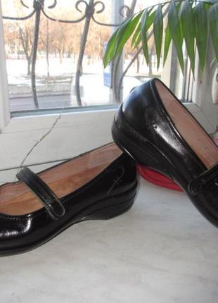 Кожаные туфли hotter 41 р (7,5)