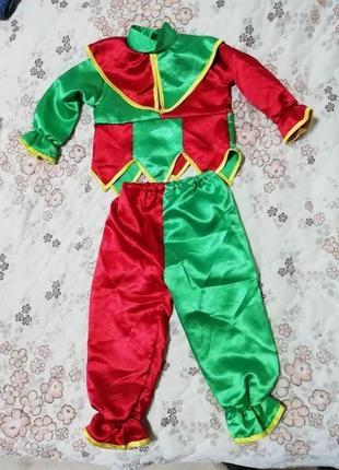 Карнавальный новогодний костюм клоуна шута на 1-1.5года