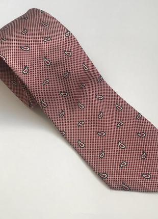 Красивый шелковый галстук от люкс бренда ermenegildo zegna.