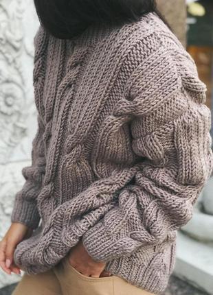 Объёмный стильный свитер оверсайз♥