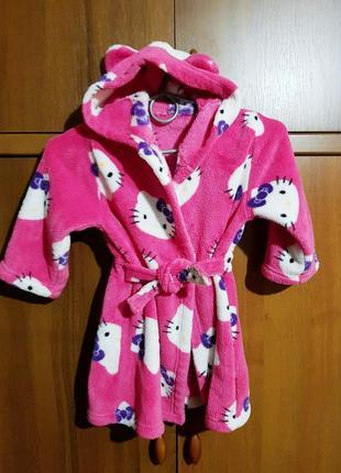 Яркий домашний халат для малышки 2-3 года