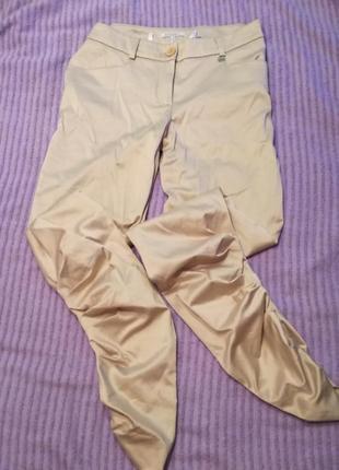 Элегантные узкие штаны,брюки под атлас внизу присобраны apart