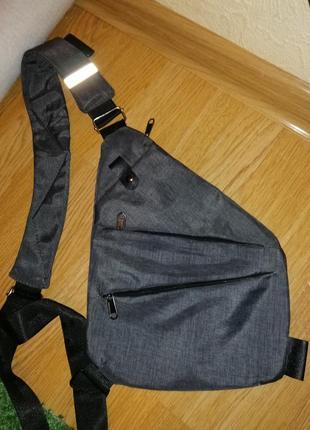 Мужская водонепронецаемая сумка cross body, антивор, мужская барсетка на плечо сумка слинг