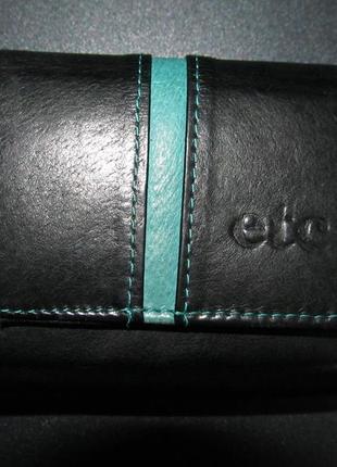 Кожаный кошелек etc оригинал. размер 10,х 9см