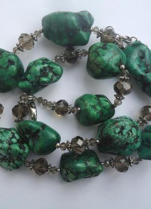 Комплект из зеленого турквенита