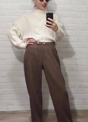 Классные стильные шерстяные брюки
