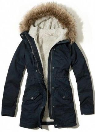 Hollister парка куртка курточка пальто демисезонное зимнее