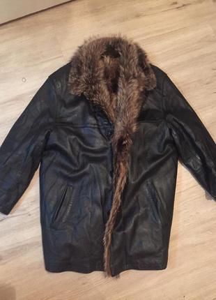 Куртка кожа волк