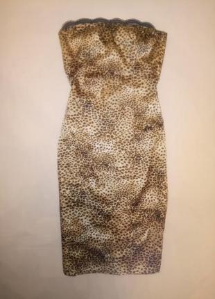 Платье в модный лео-принт s-m