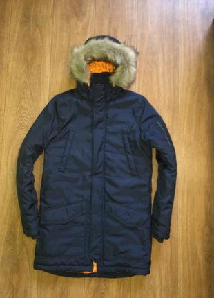 Стильная куртка, парка h&m, еврозима, р-р s, или 14-16 лет, рост до 178