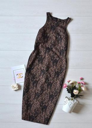 Стильне плаття карандаш в кружевний прінт ax paris.