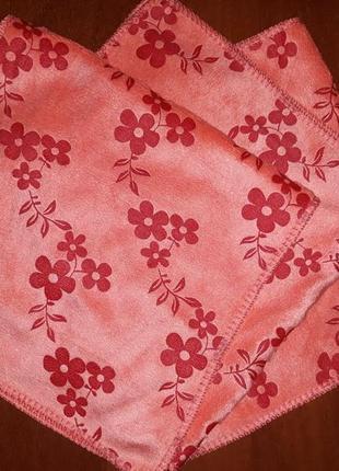 Кухонные полотенца микрофибра 26 х 49 кораловые