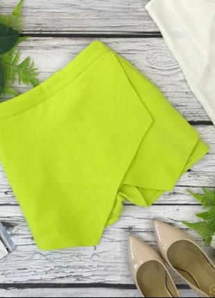 Очень стильные шорты юбка на запах new look