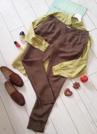 Чудесные легкие брюки casual высокая посадка