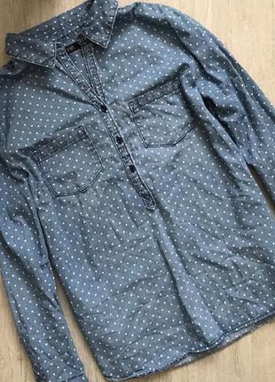 Классная рубашка в горошек f&f