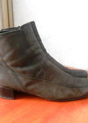 Кожаные удобные фирм. ботинки gabor евро зима, р.42 код b4203