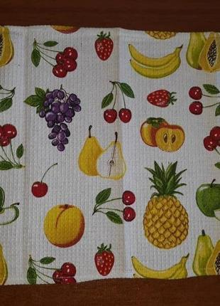 Вафельное кухонное полотенце 38,5 х 54 фрукты