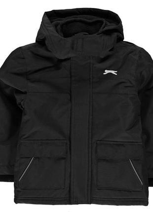 Утепленная демисезонная куртка дождевик противоветренная непромокаемая slazenger англия