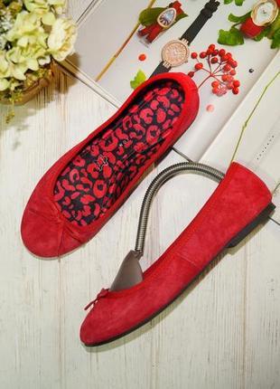 Marks&spencer. комфортные замшевые туфли, балетки на низком ходу