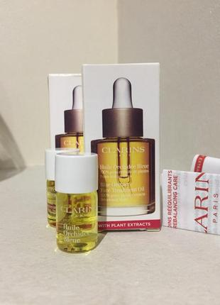 Clarins blue orchid face treatment oil масло для лица для обезвоженной кожи