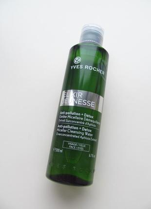 Мицеллярная вода-гель детокс и восстановление elixir jeunesse 200мл ив роше