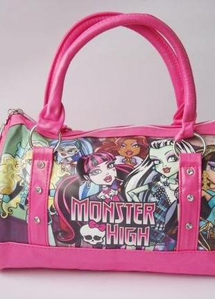 "Детская сумка monster high, сумка монстер хай, стильная детская сумка ""школа монстров""3"