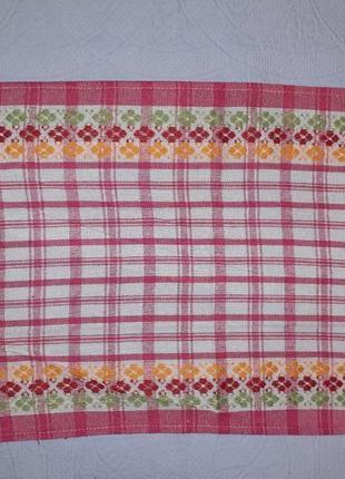 Кухонные  полотенца 36х59 розовые