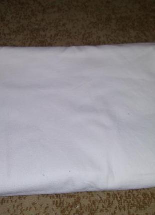Белая байковая простынь