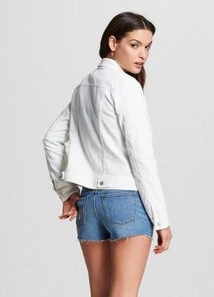 Белый,джинсовый жакет,пиджак,куртка,стразы по карманам, dolce & gabbana