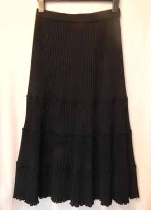 Шерстяная юбка миди плиссе от marc cain р.n 3