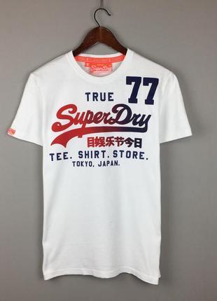 Белая хлопковая футболка super dry tee shirt vintage мужская турция