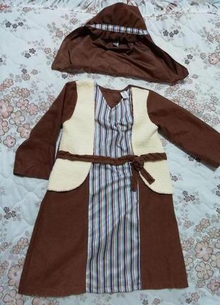 Карнавальный костюм араба, бедуина, волхв пастушок на 3-4года tu