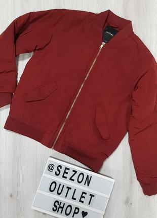 Иужской бордовый бомбер monki s,мужская утепленная куртка бомбер бордо