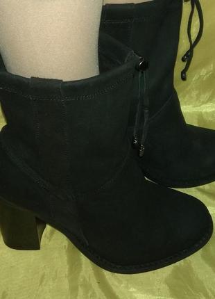 Стильные кожаные деми ботинки next р 37-37,5 идеал сост
