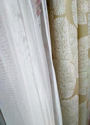 Шикарный набор(шторы, тюль,наволочки)