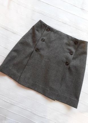 Agnes b., оригинал! дизайнерская шерстяная юбка#юбочка#спідниця, 100% шерсть мериноса.