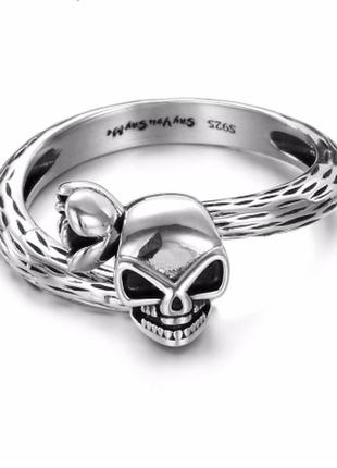 Кольцо череп серебро в наличии в коробке колечко серебряное