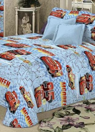 """Детское постельное белье из бязи голд  для мальчиков""""маквин дакарт"""""""