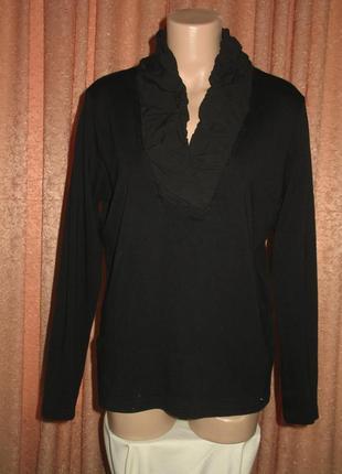 Блузка черная оригинальный воротник на резинке