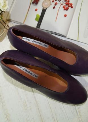 & other stories. роскошные кожаные туфли на массивном каблуке4