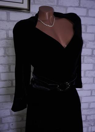 👗vera mont эксклюзивное велюровое ..безумно красивое платье р 40 сток