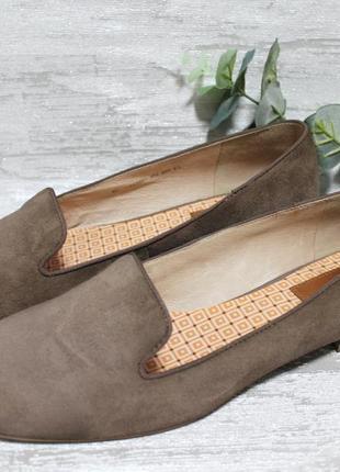 Оригинальные замшевые туфли лоферы marc o'polo размер 38,5